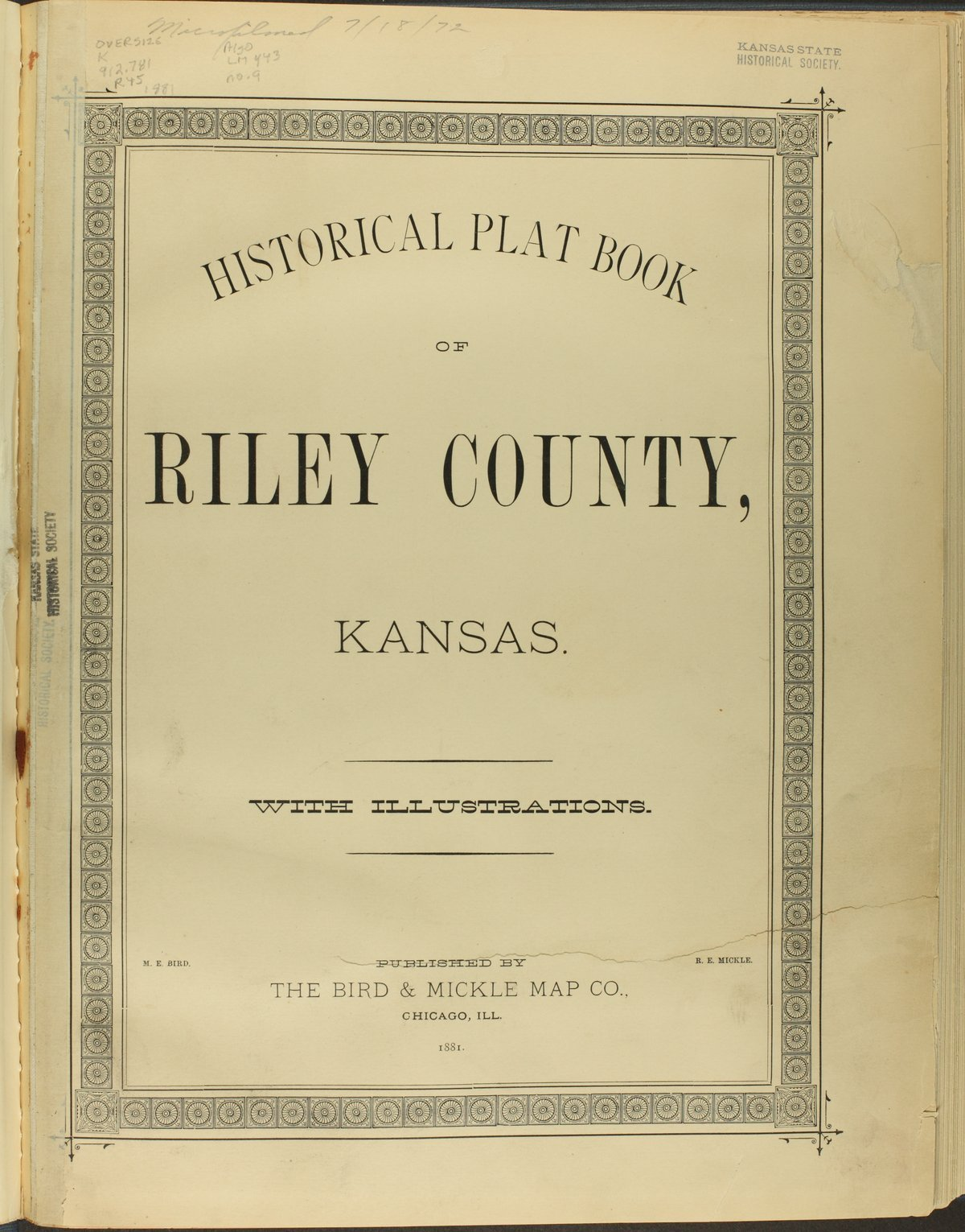 Historical plat book of Riley County, Kansas - Title Page