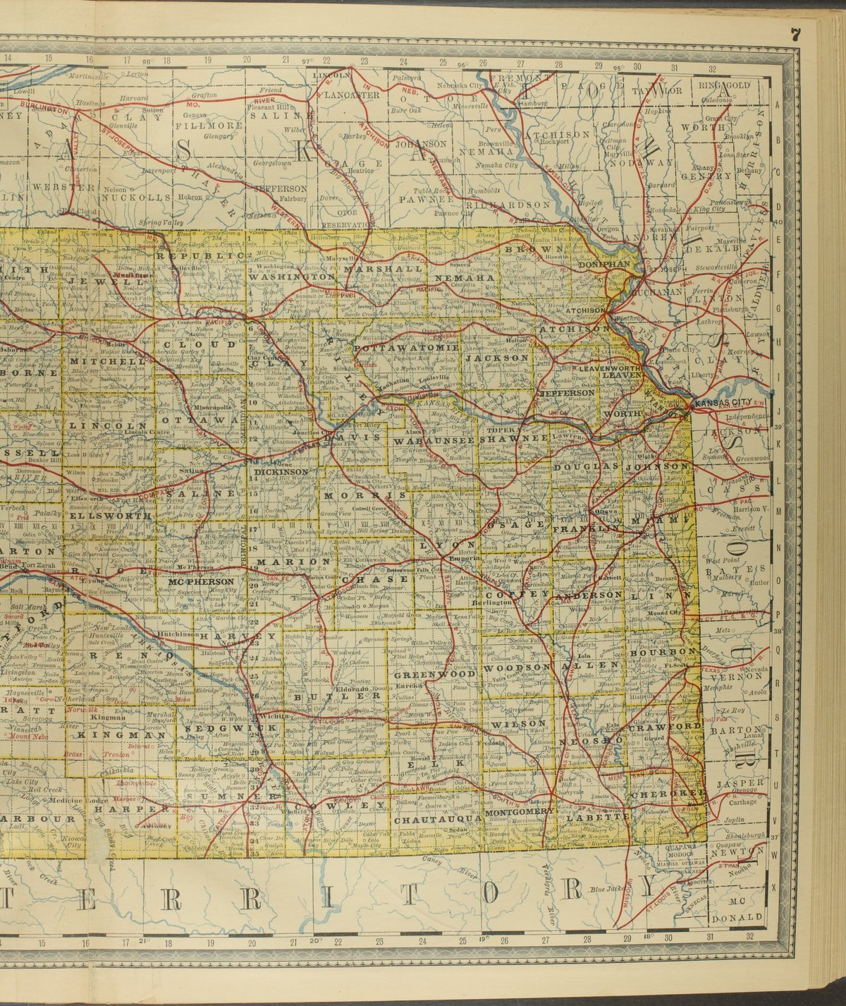 Historical plat book of Riley County, Kansas - Map of Kansas