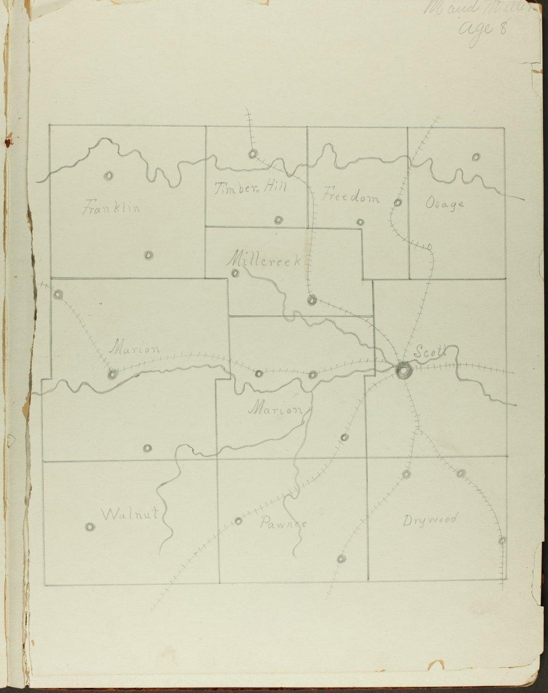 Map of Bourbon County, Kansas - 1