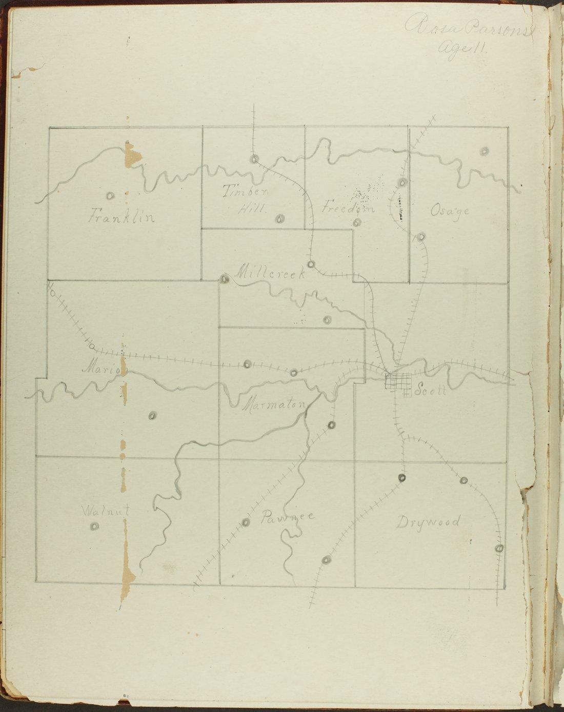 Map of Bourbon County, Kansas - 4
