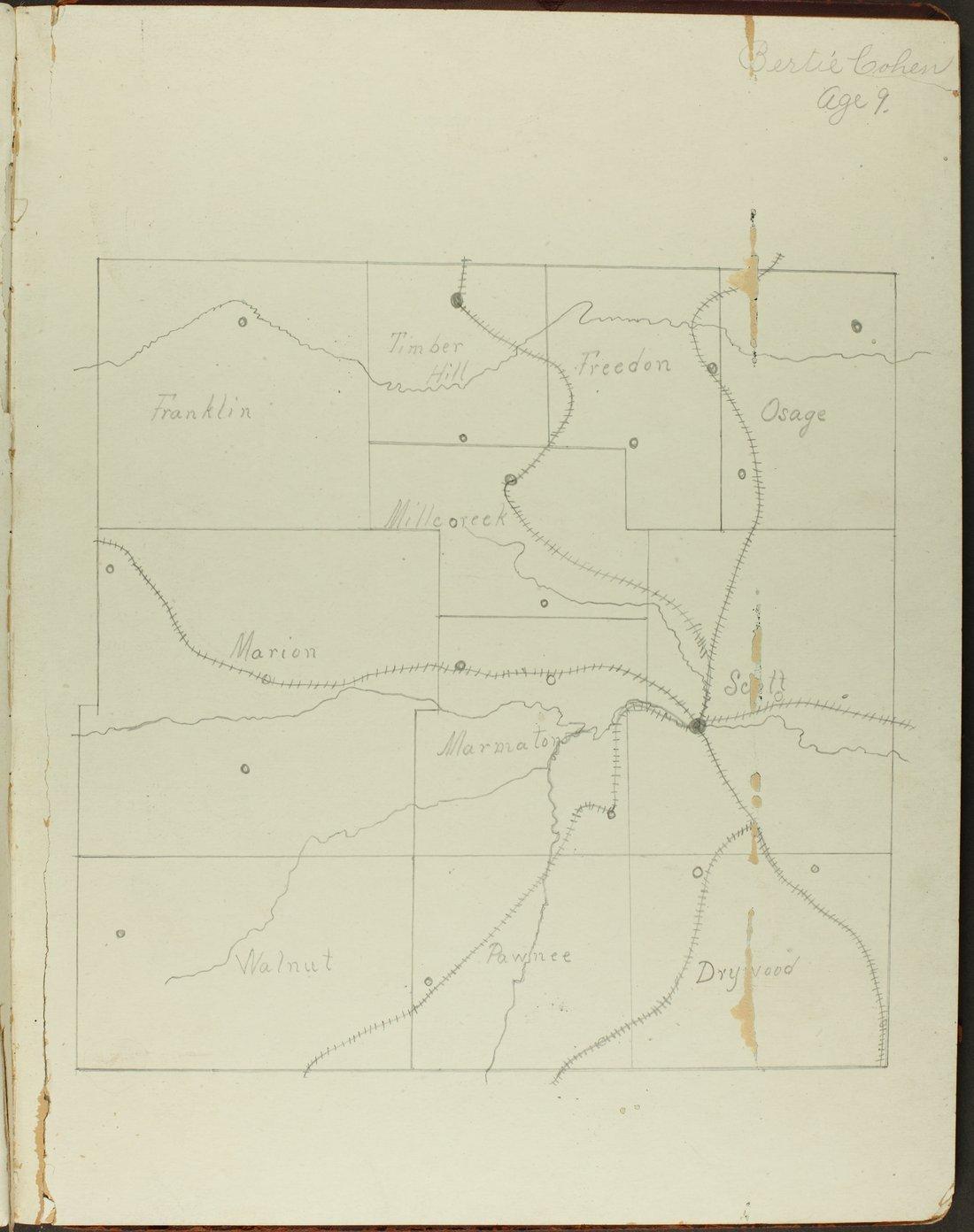 Map of Bourbon County, Kansas - 5