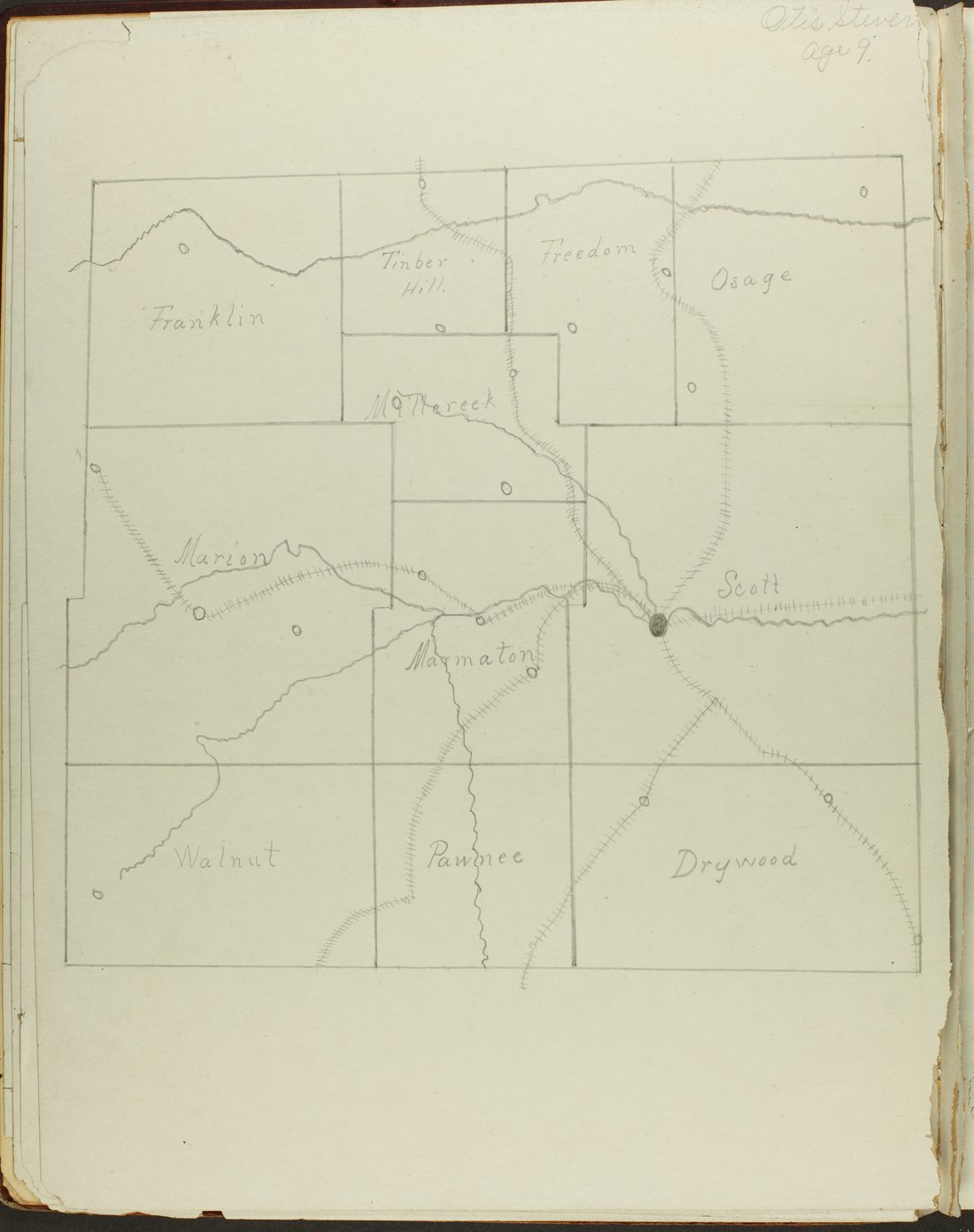 Map of Bourbon County, Kansas - 8