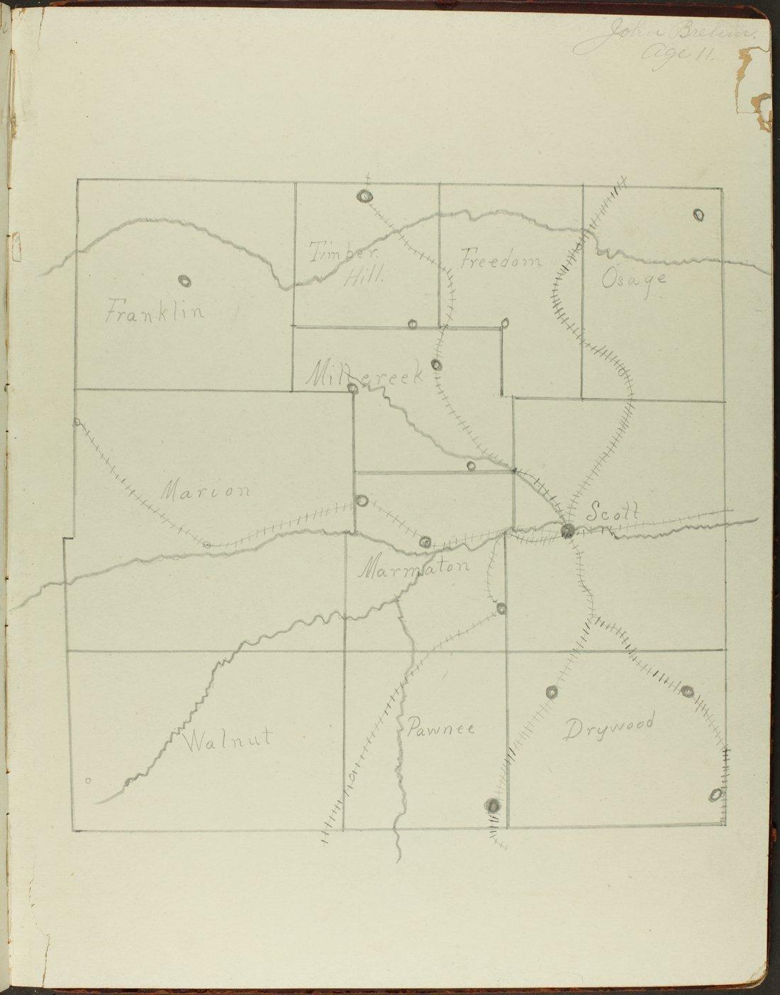 Map of Bourbon County, Kansas - 9