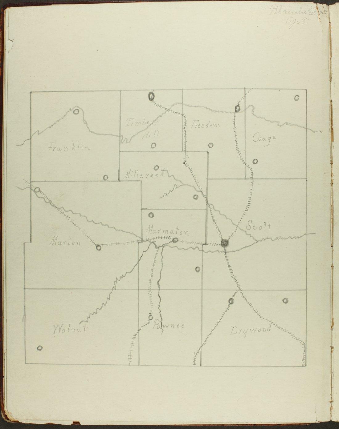 Map of Bourbon County, Kansas - 12