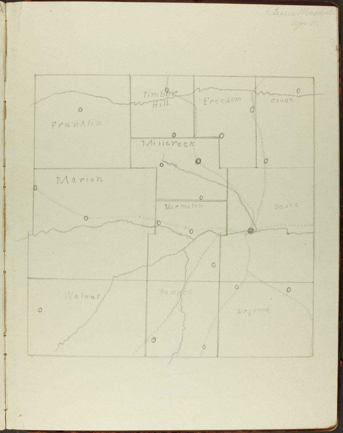 Map of Bourbon County, Kansas - 13