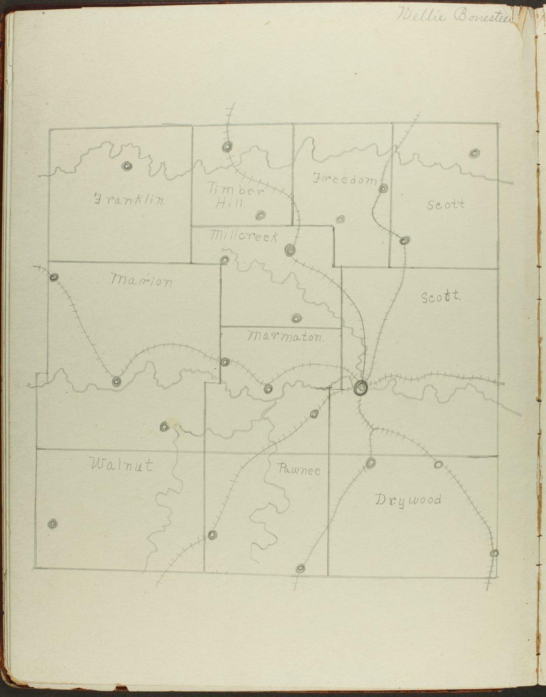 Map of Bourbon County, Kansas - 16