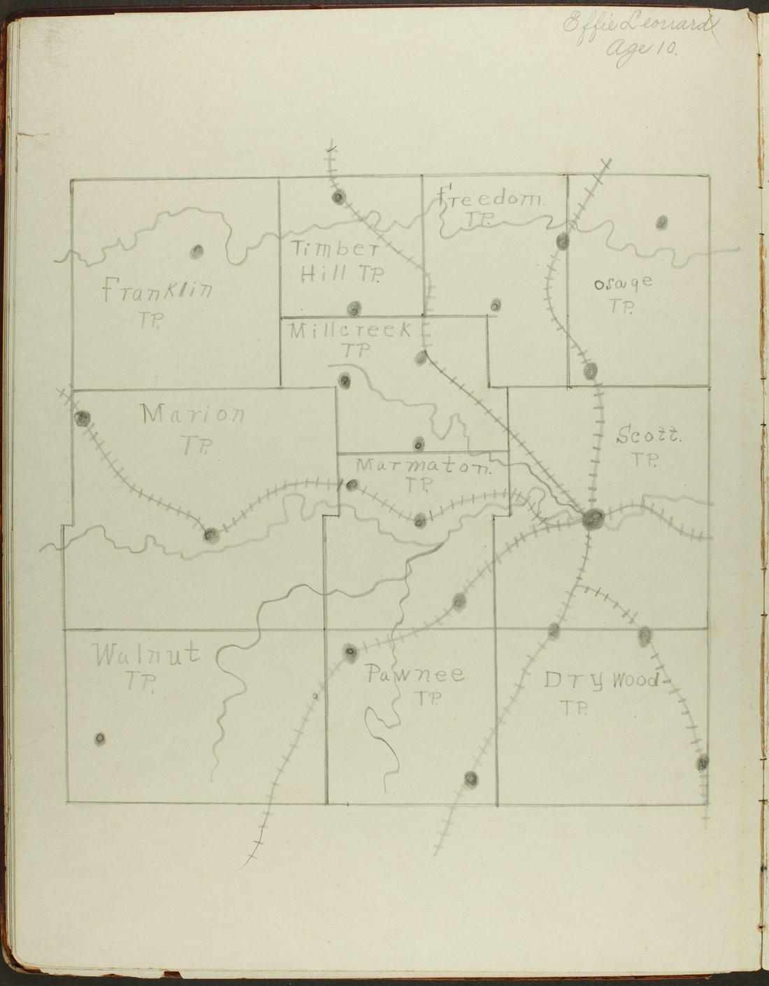 Map of Bourbon County, Kansas - 20