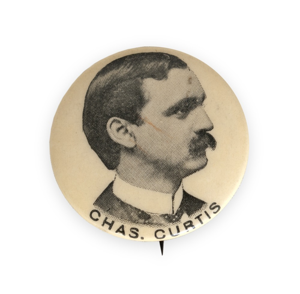 Charles Curtis political button