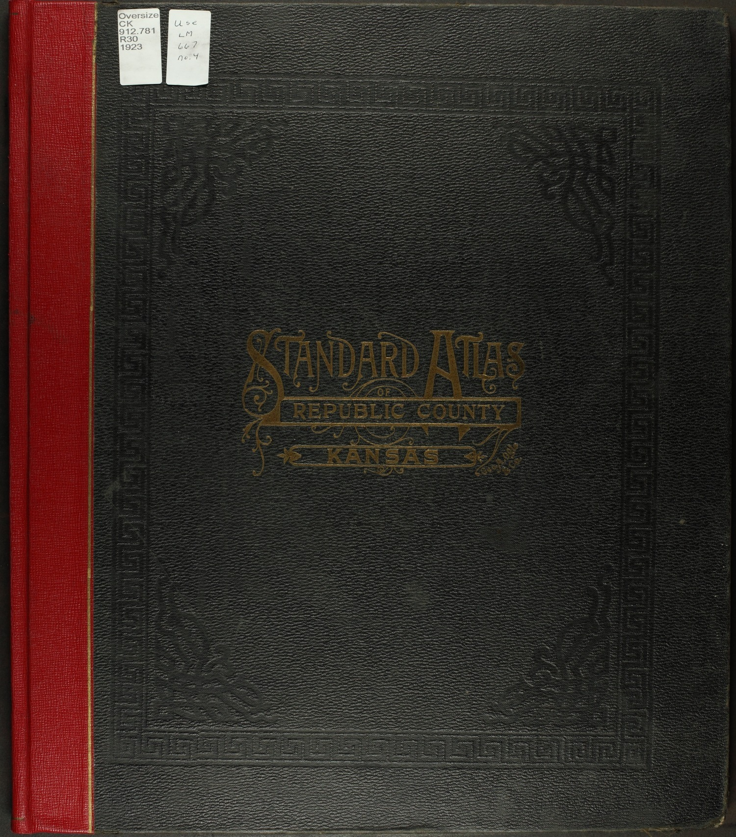 Standard atlas of Republic County, Kansas - Front Cover