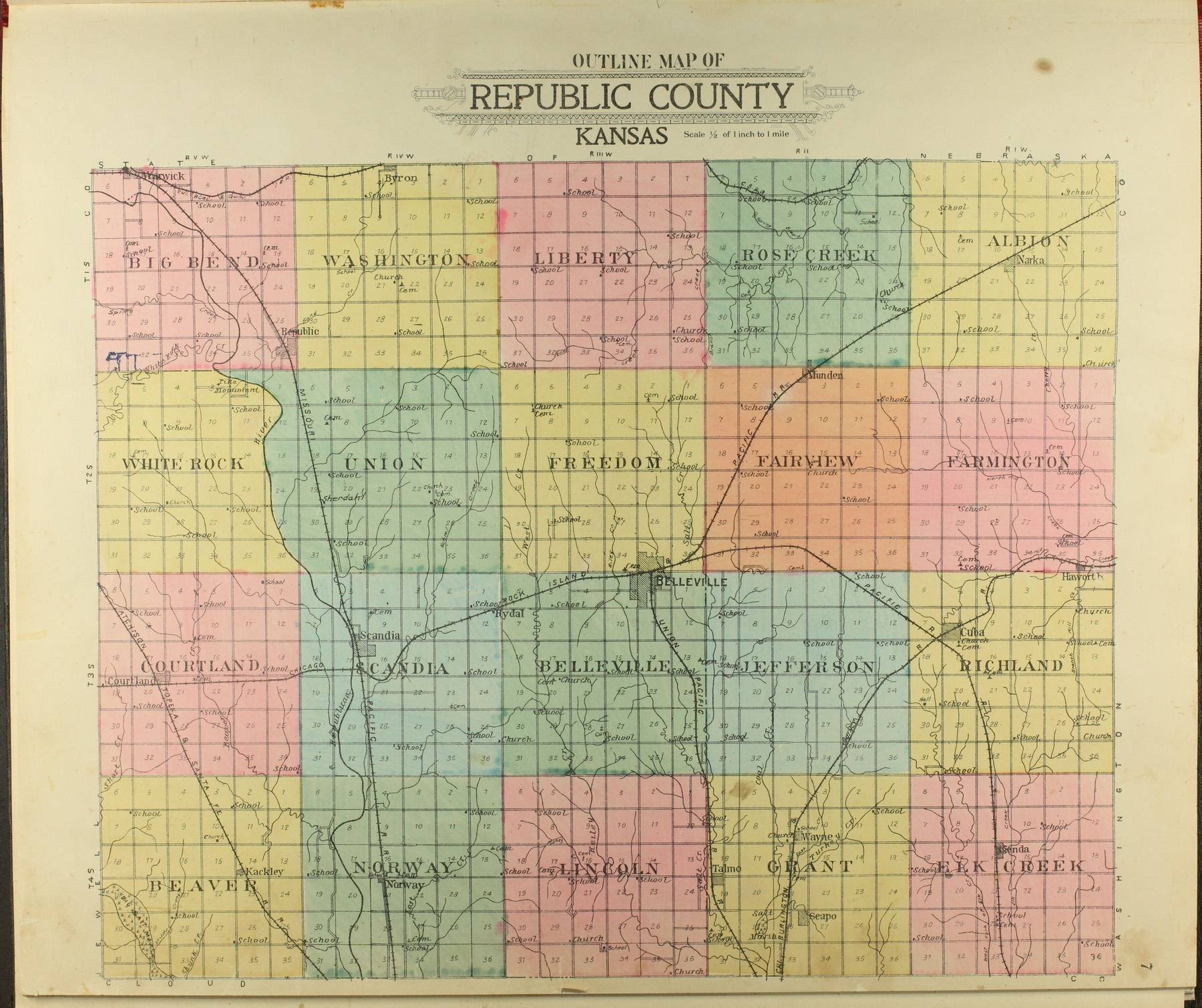 Standard atlas of Republic County, Kansas - 7