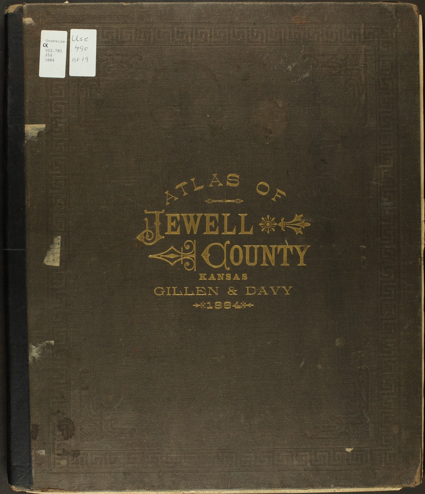Atlas of Jewell County, Kansas - Front Cover