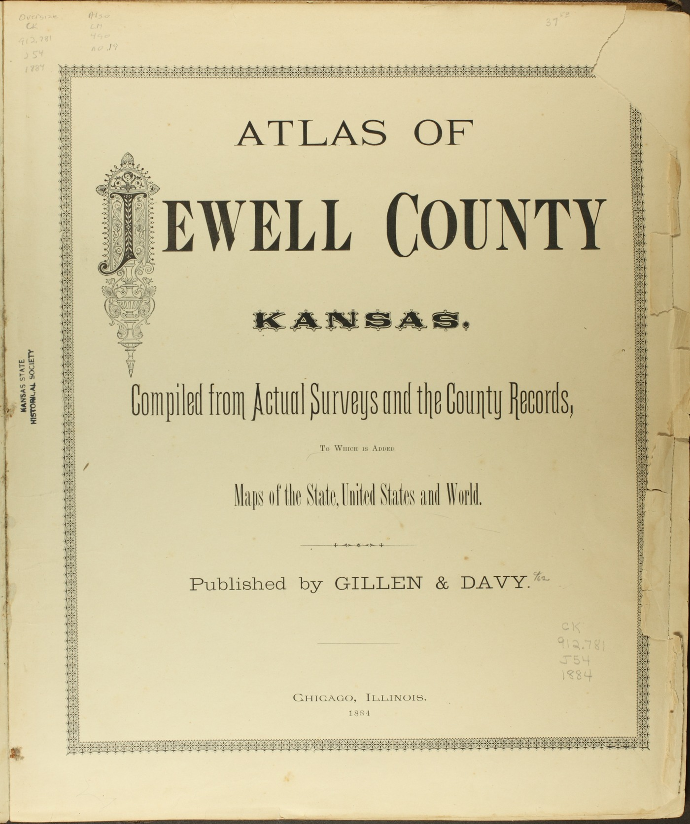 Atlas of Jewell County, Kansas - Title Page
