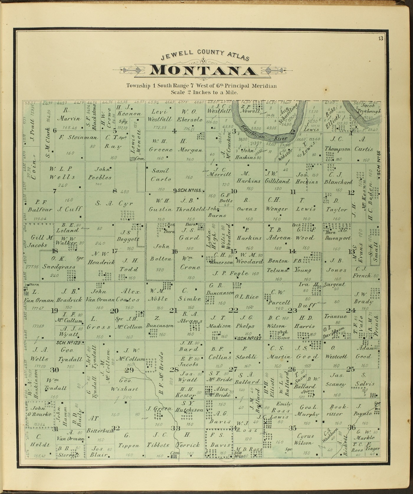 Atlas of Jewell County, Kansas - 13