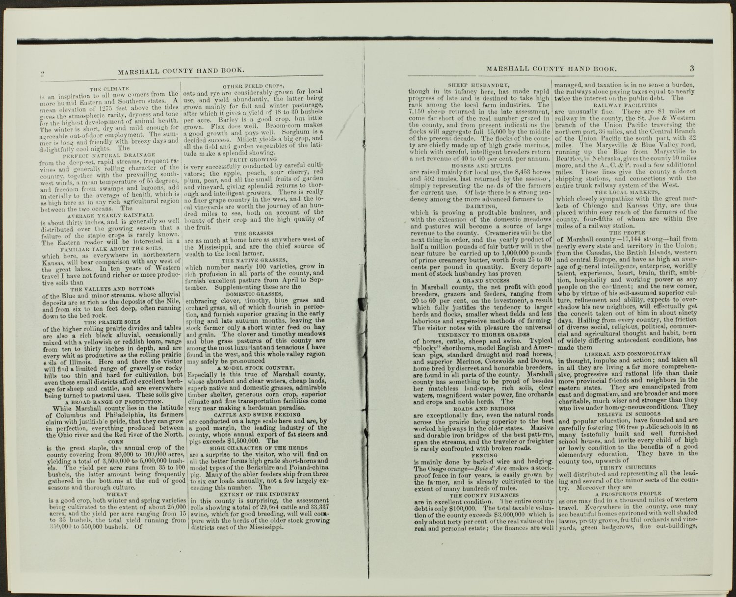 Handbook of Marshall County, Kansas - Pages 2 & 3