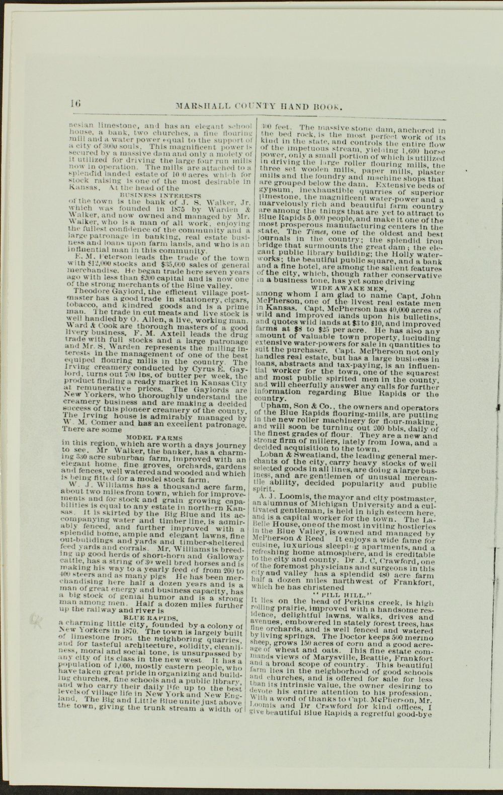 Handbook of Marshall County, Kansas - Page 16