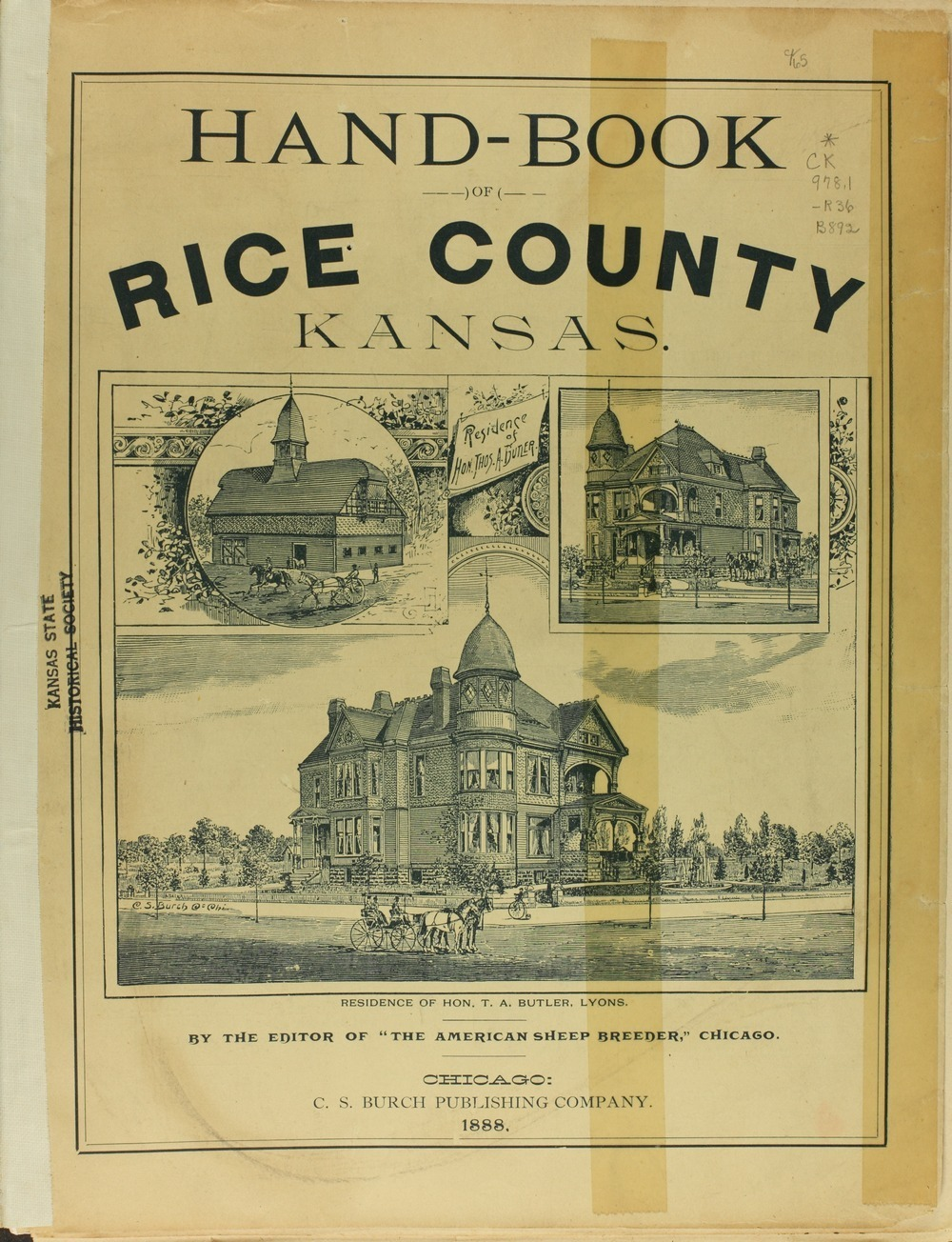 Hand-book of Rice County Kansas - Title Page