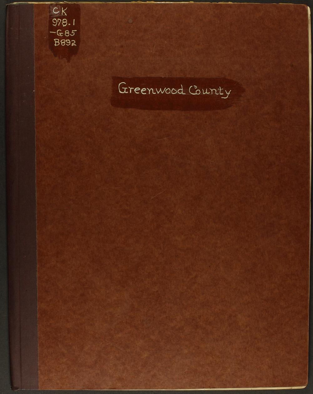 Handbook of Greenwood County, Kansas - Front Cover