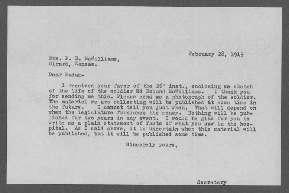 Ed Roland McWilliams, World War I soldier - 9