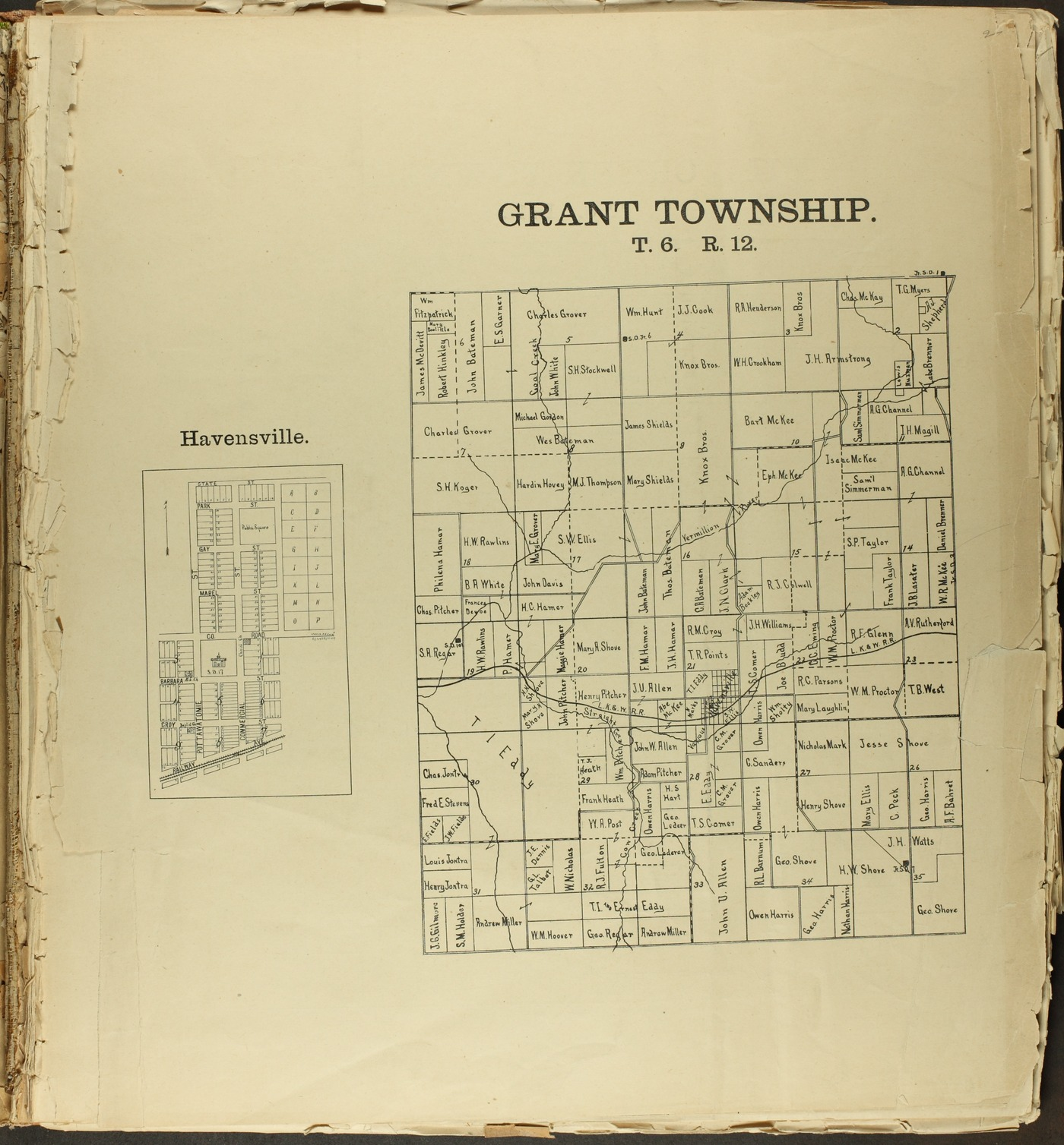 The Onaga courier's sectional township map of Pottawatomie County, Kansas - 1