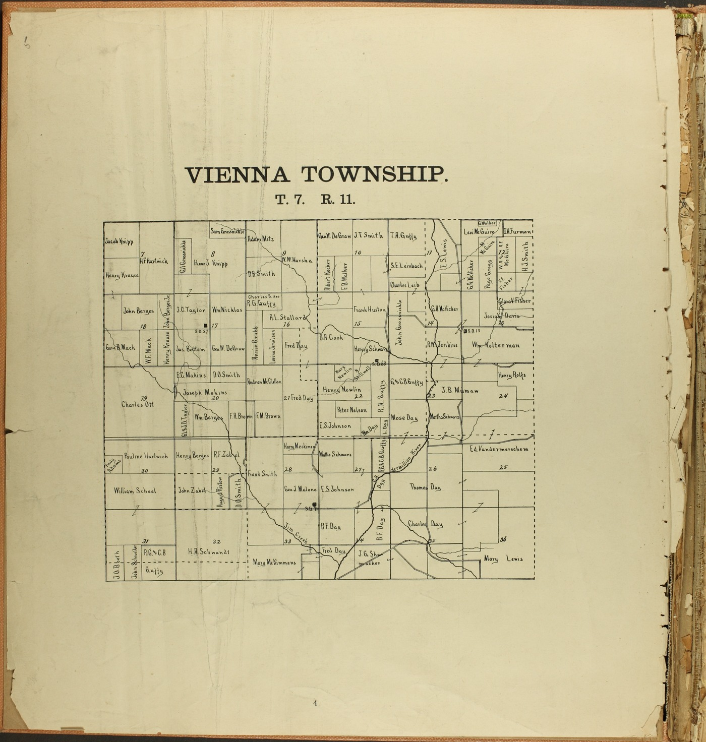 The Onaga courier's sectional township map of Pottawatomie County, Kansas - 4