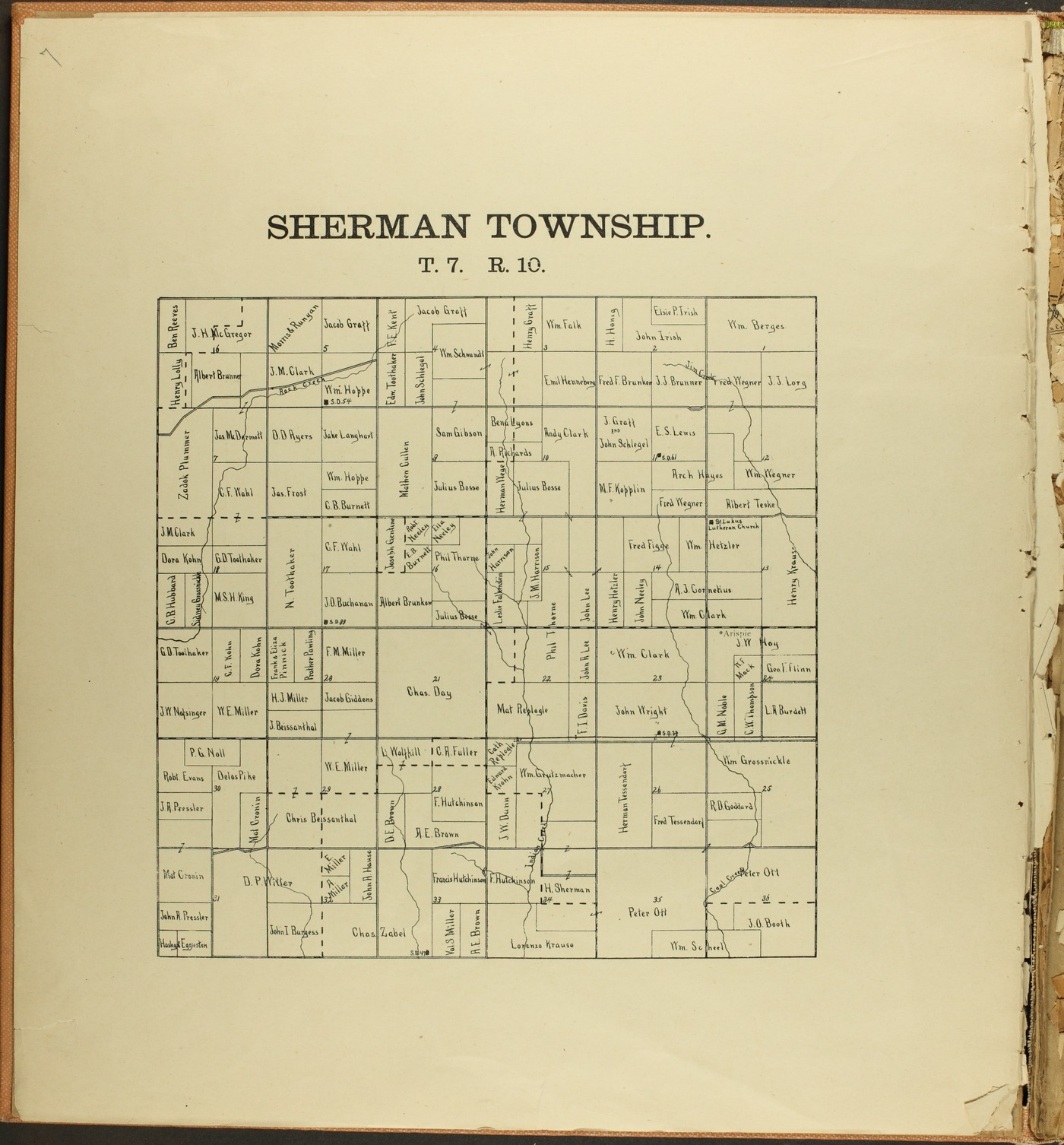 The Onaga courier's sectional township map of Pottawatomie County, Kansas - 6