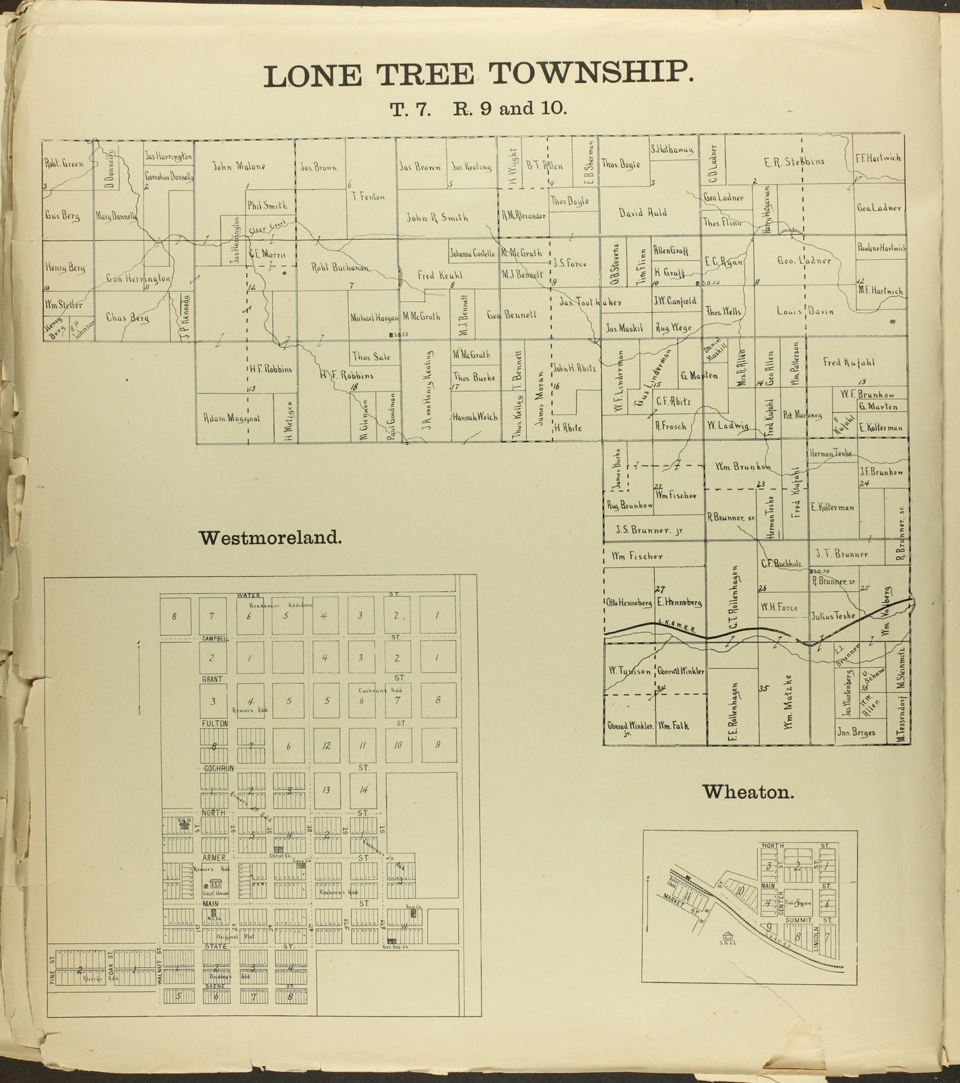 The Onaga courier's sectional township map of Pottawatomie County, Kansas - 38