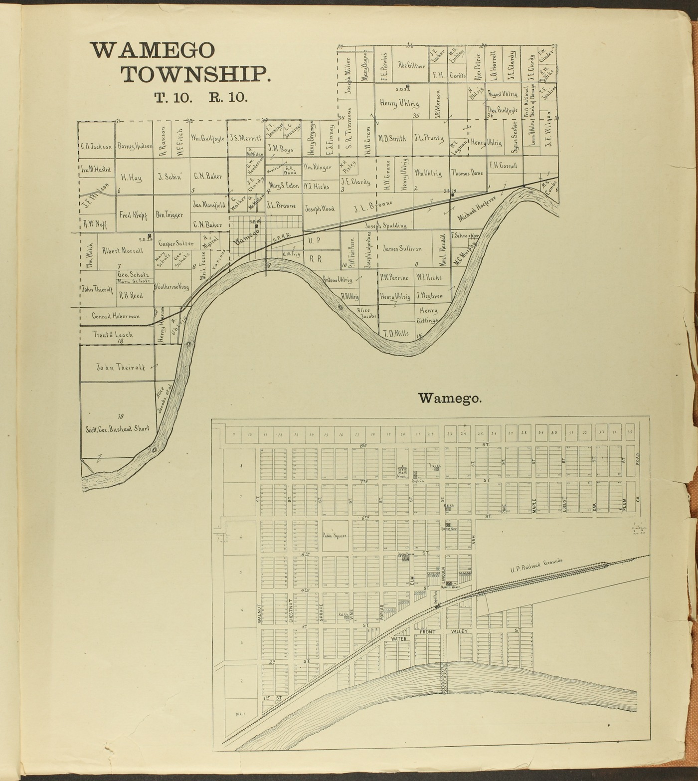 The Onaga courier's sectional township map of Pottawatomie County, Kansas - 39