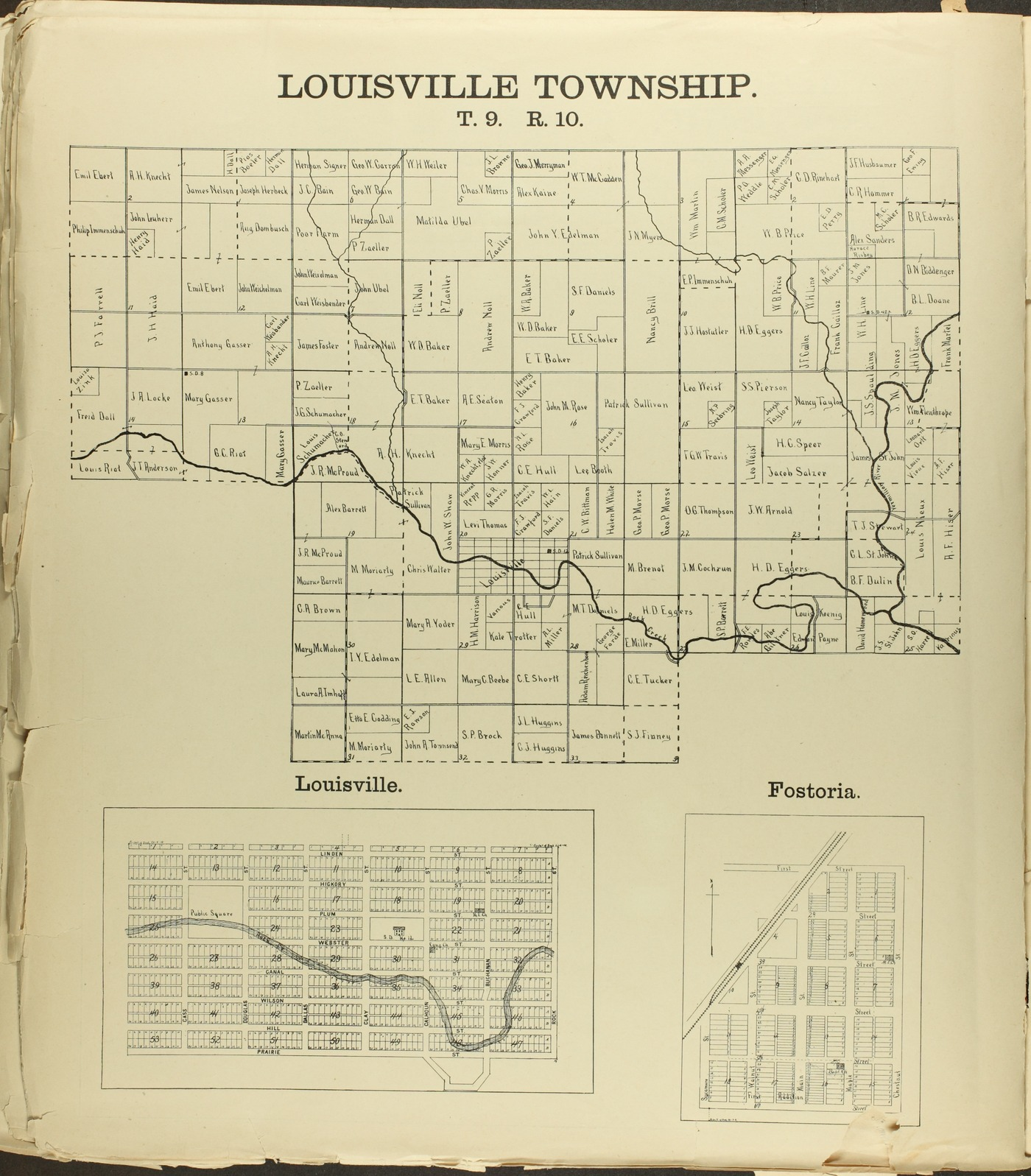 The Onaga courier's sectional township map of Pottawatomie County, Kansas - 40