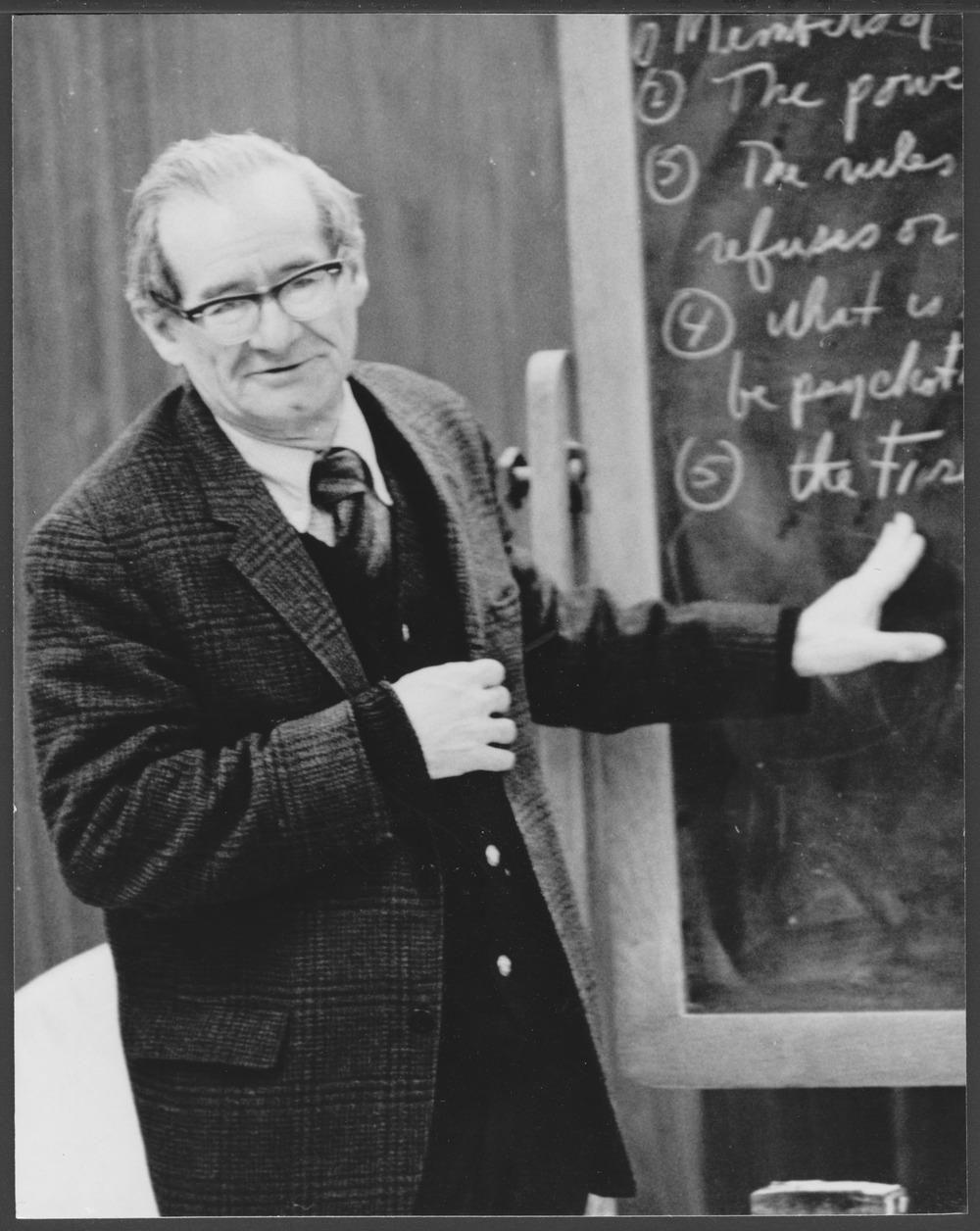 Arthur Mandelbaum, M.S.W. lecturing at the Menninger Foundation, Topeka, Kansas