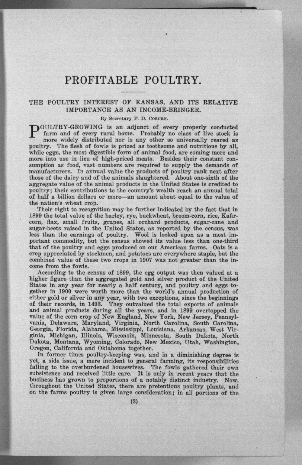 Sixteenth biennial report of the Kansas State Board of Agriculture, 1907-1908 - 3