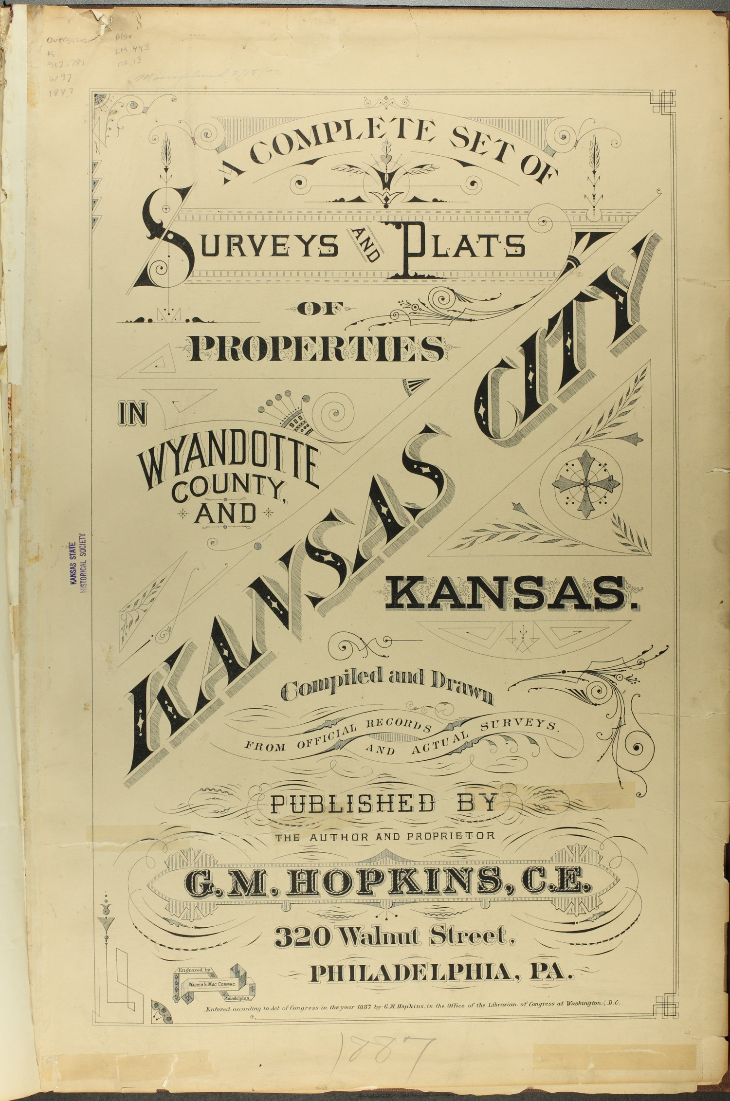 A complete set of surveys and plats or properties in Wyandotte County and Kansas City Kansas - Title Page