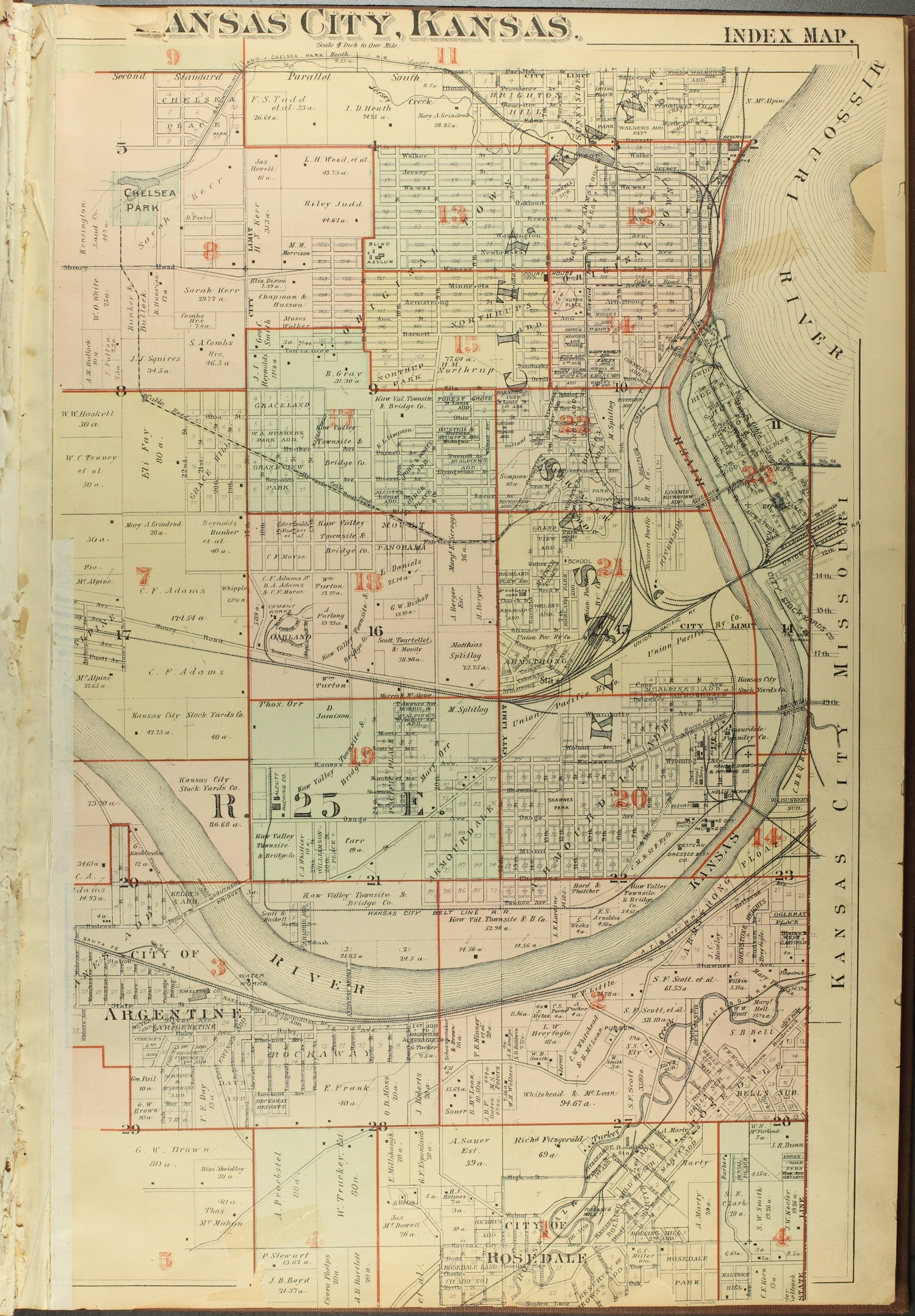 A complete set of surveys and plats or properties in Wyandotte County and Kansas City Kansas - 3