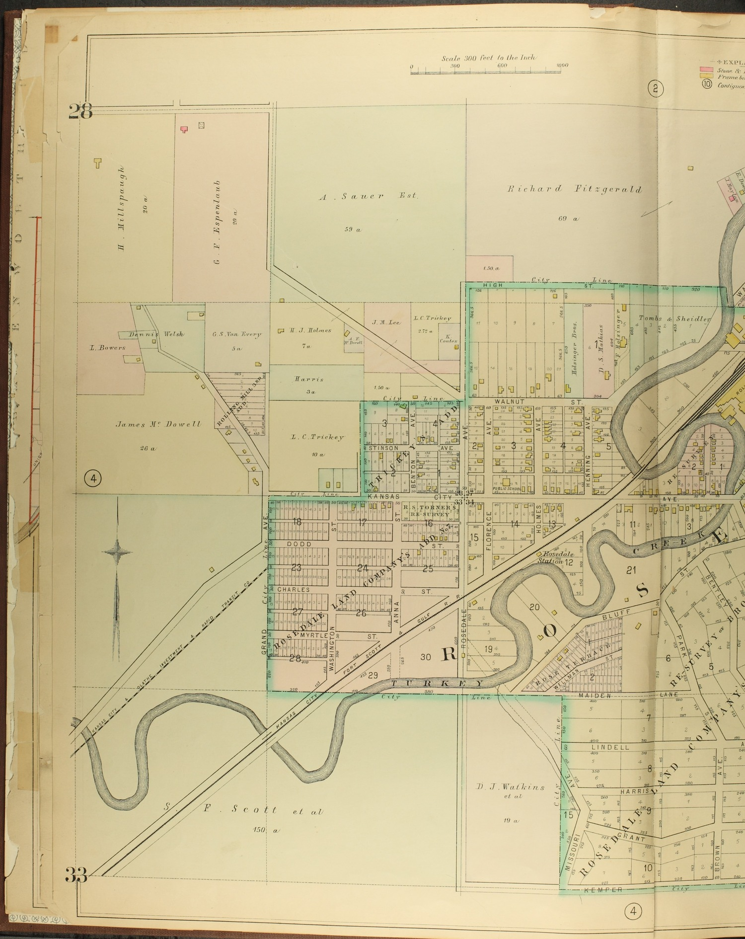 A complete set of surveys and plats or properties in Wyandotte County and Kansas City Kansas - 4