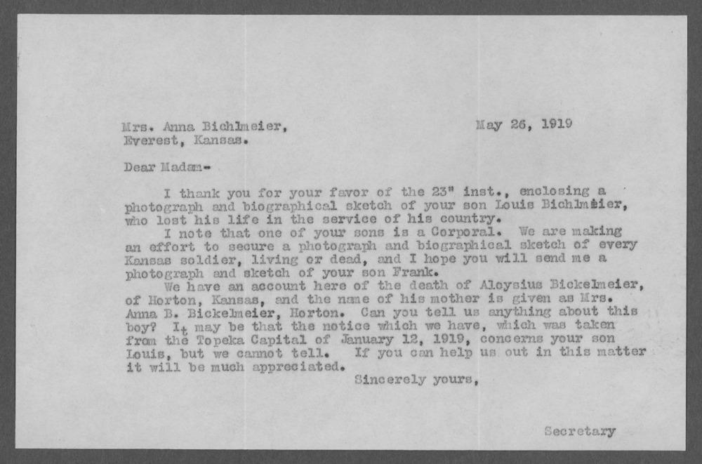 Aloysius Bichlmeier, World War I soldier - 4