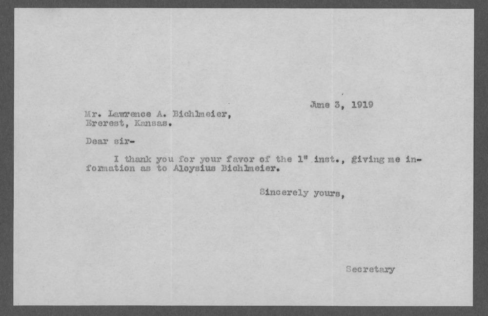 Aloysius Bichlmeier, World War I soldier - 10