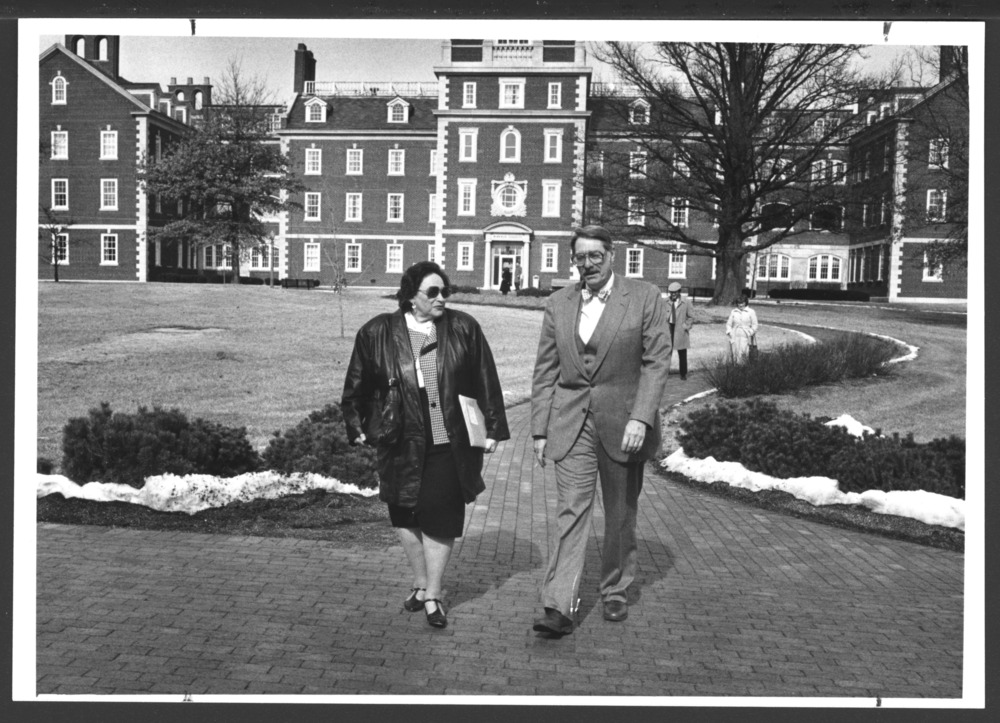 Harriet Lefley, PhD and W. Walter Menninger, M.D. at Menninger Clinic