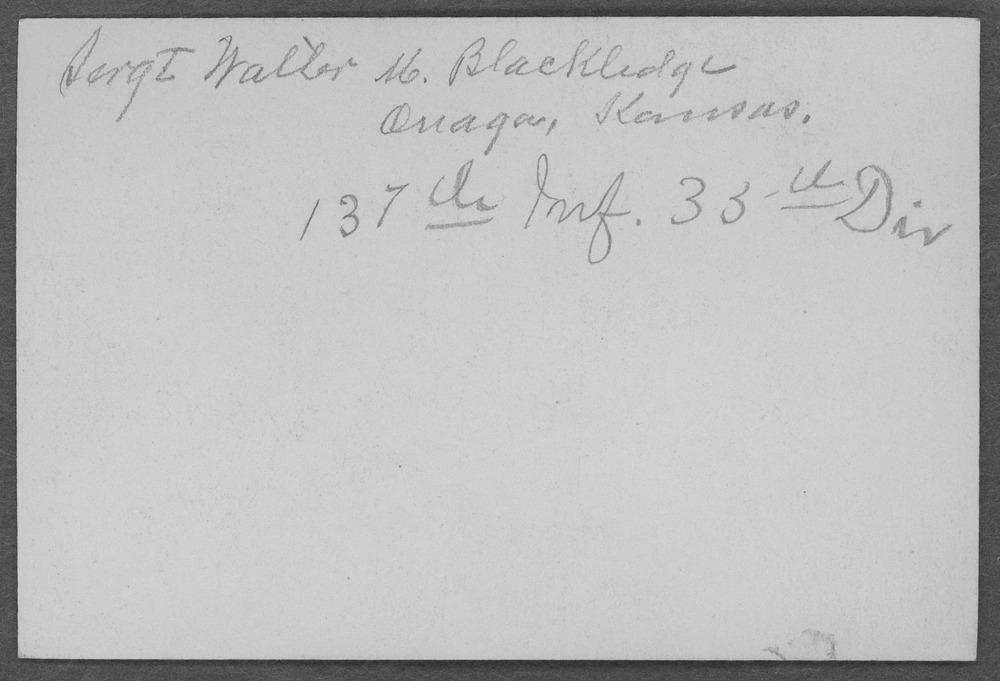 Walter McKinley Blackledge, World War I soldier - 2