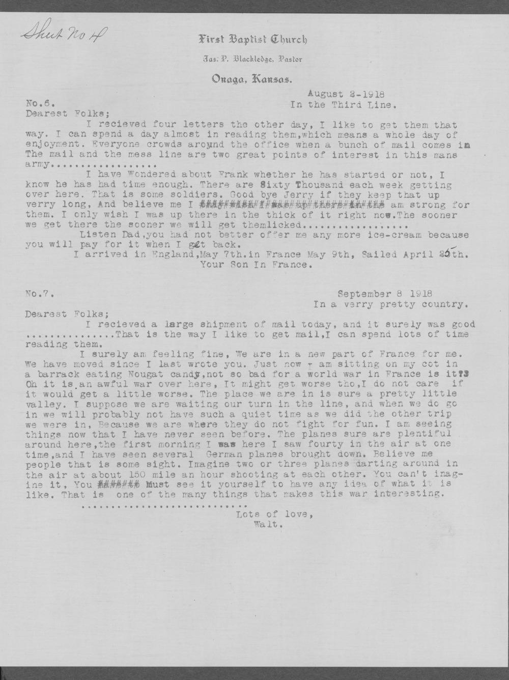 Walter McKinley Blackledge, World War I soldier - 10