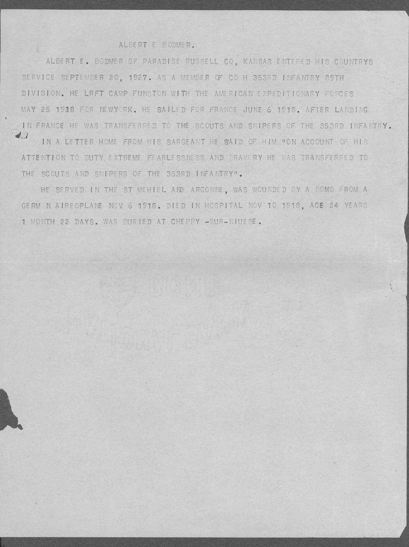 Albert Edward Bodmer, World War I soldier - 7