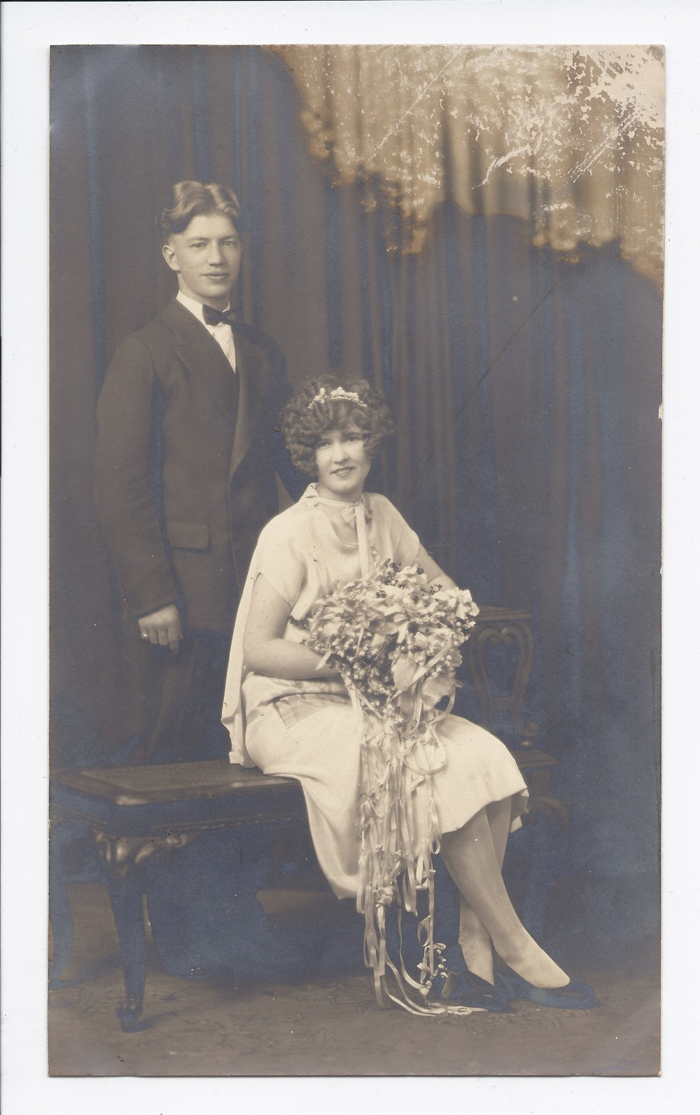 Mr. and Mrs. A. Nelson wedding portrait