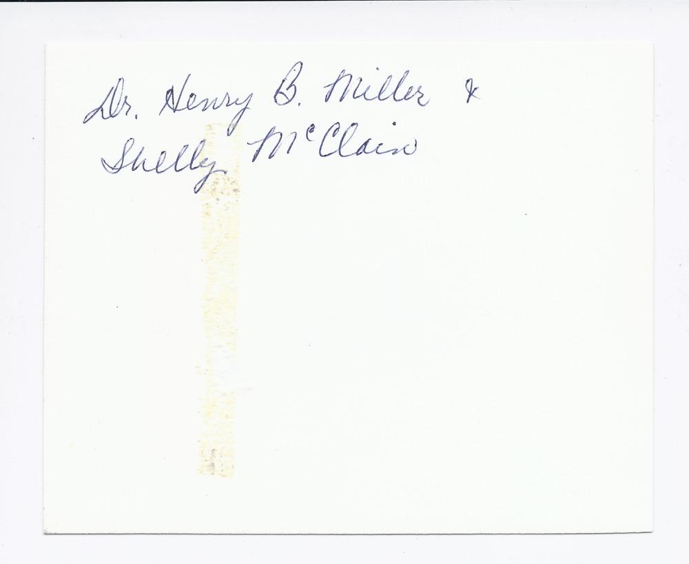 Dr. Henry B. Miller holding Shelley McClain, Rossville, Kansas - 2
