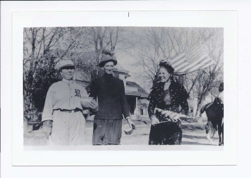 People at a July fourth parade, Rossville, Kansas