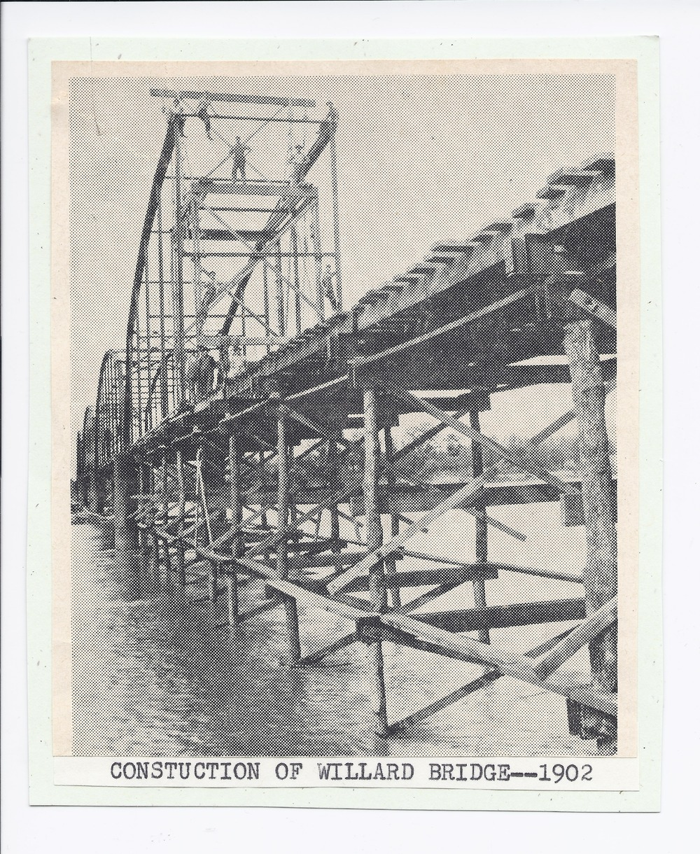 Construction of the Willard bridge, Willard, Kansas