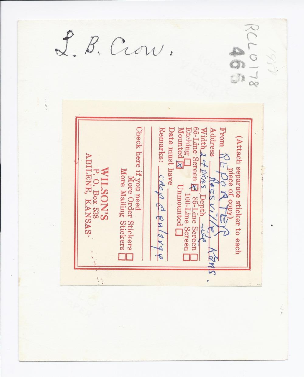 L.B. Crow, Rossville, Kansas - 2