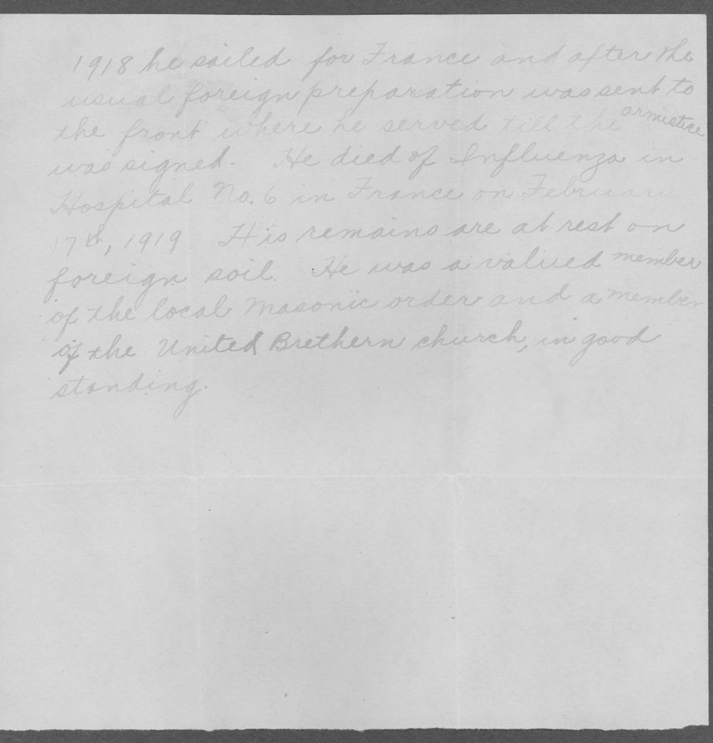 Arthur Strange Tisdale, World War I soldier - 6