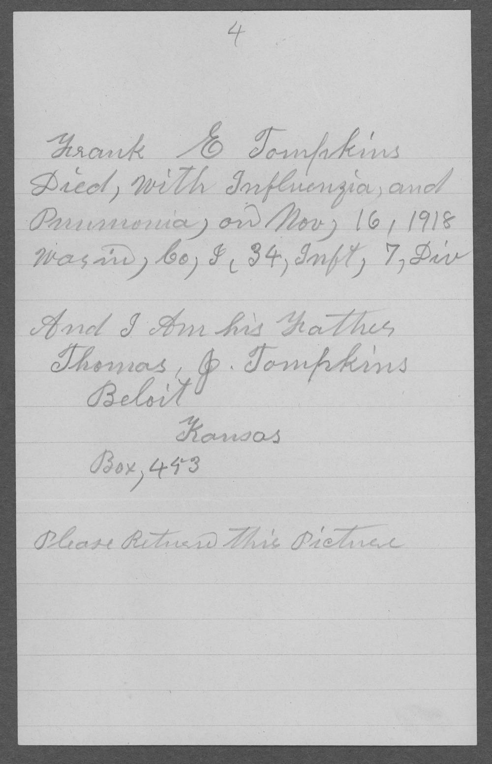 Frank E. Tompkins, World War I soldier - 6