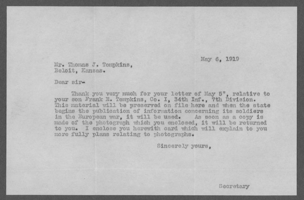 Frank E. Tompkins, World War I soldier - 7