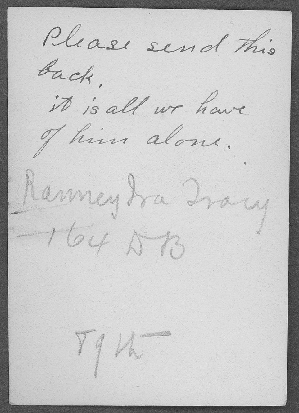 Ramsey Ira Tracy, World War I soldier - 2