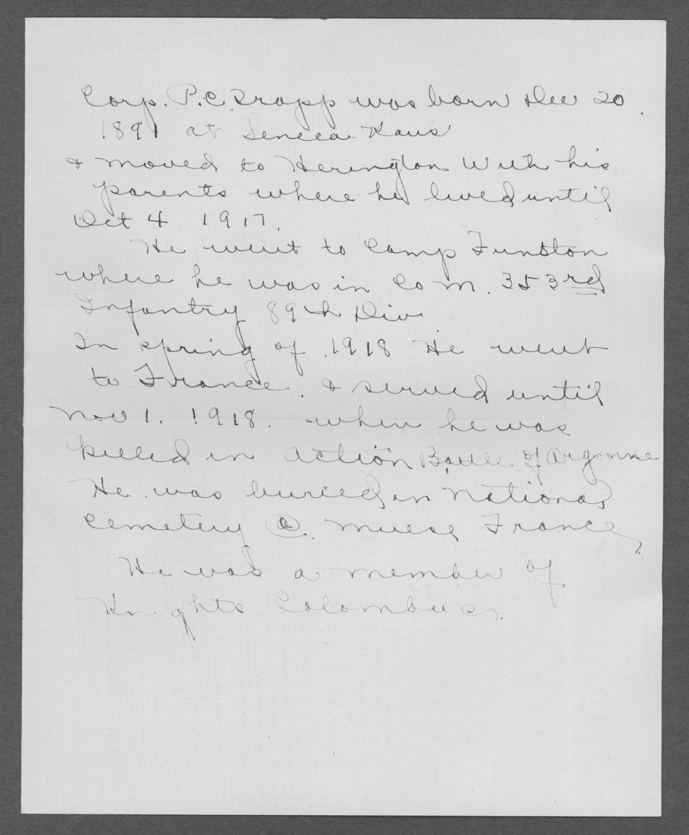 Peter C. Trapp, World War I soldier - 4
