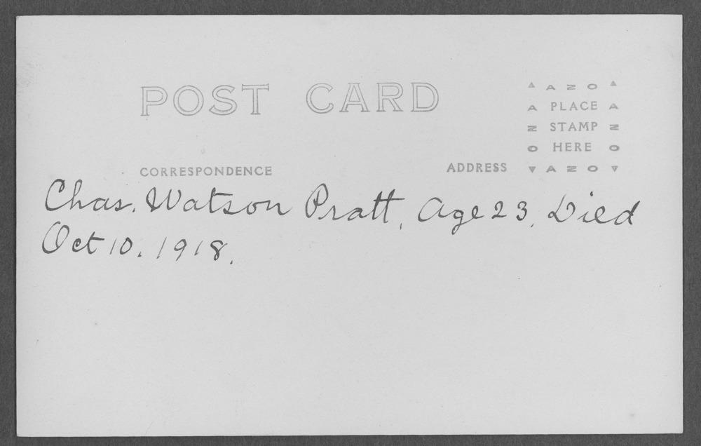 Charles Watson Pratt, World War I soldier - 2